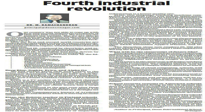 Article on Fourth Industrial Revolution