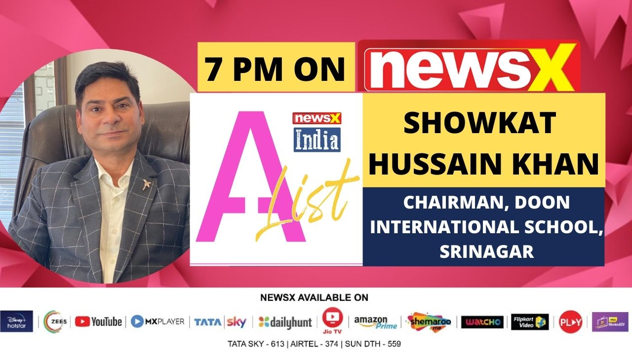 Showkat Hussain khan, chairman DIS, on NewsX A-List.