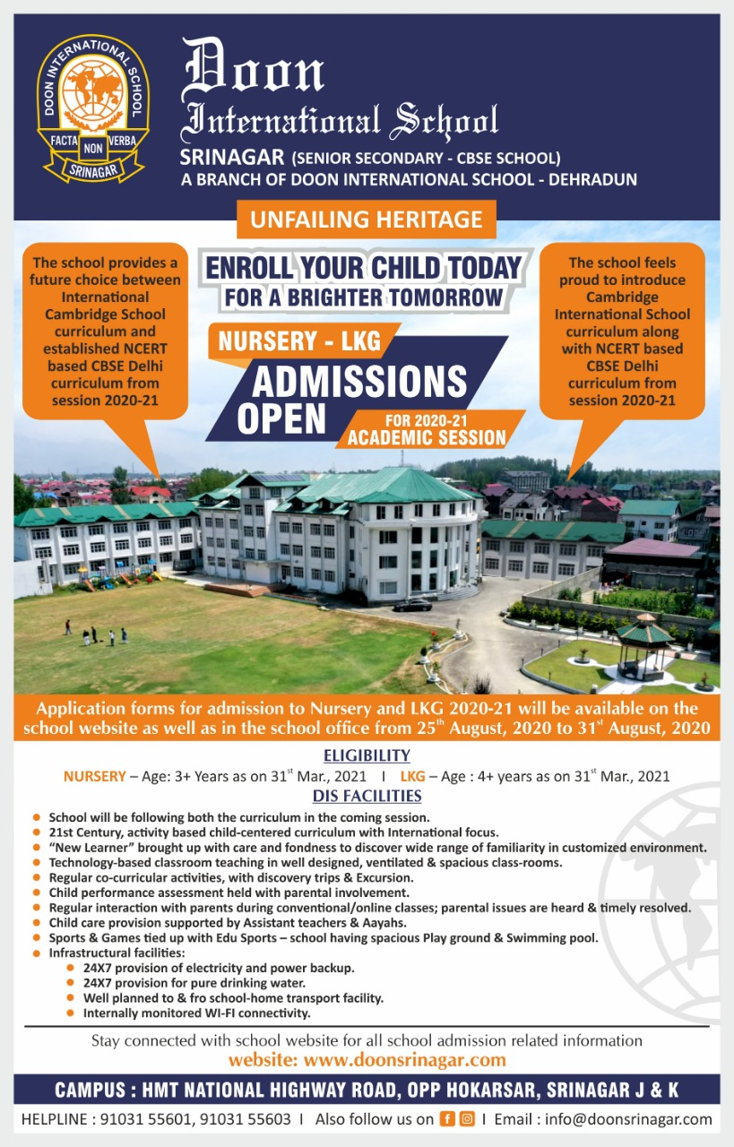 Admission Notification for classes Nursery & LKG
